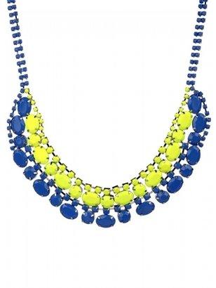 Adia Kibur Double Super Bright Acrylic Stone Necklace