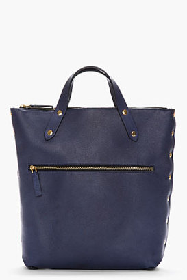 Marni EDITION Midnight Purple Leather Tote Backpack