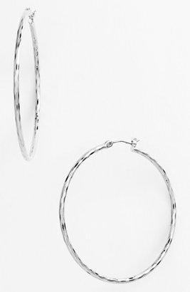 Women's Nordstrom Harlequin Facet Hoop Earrings $28 thestylecure.com