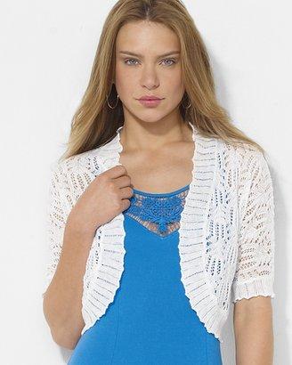 Lauren Ralph Lauren Pointelle-Knit Linen Shrug