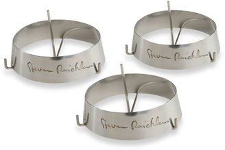 Steven Raichlen 3-Inch Round Stainless Rings with Spikes (Set of 3)