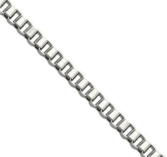 """Steel by Design 20"""" Box Link Necklace"""
