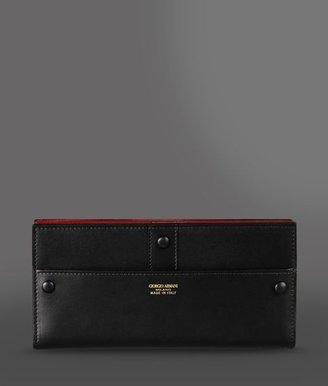Giorgio Armani Two-Color Travel Wallet