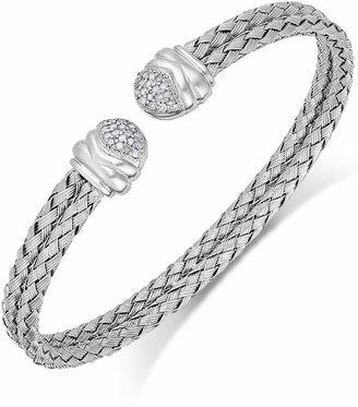 Macy's Diamond Weave Cuff Bracelet in Sterling Silver (1/5 ct. t.w.)