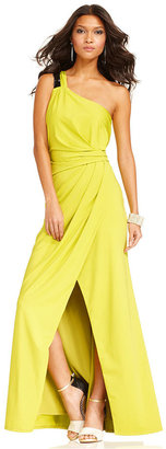 Jessica Simpson Dress, Sleeveless One-Shoulder Gown