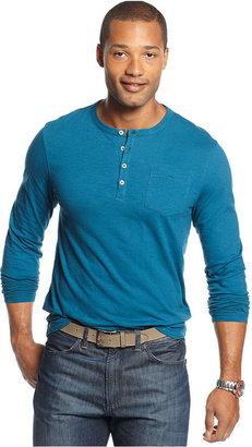 Geoffrey Beene Shirt, Slim-Fit Long-Sleeve Slub Henley Shirt