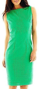 Liz Claiborne Eyelet Sheath Dress