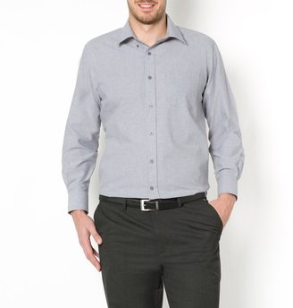 La Redoute Collections Plus Straight Long-Sleeved Shirt