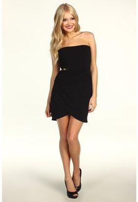 Max & Cleo Strapless Kristine Jersey Dress (Black) - Apparel