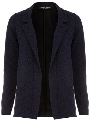 Dorothy Perkins Navy and Black Rose Jacket