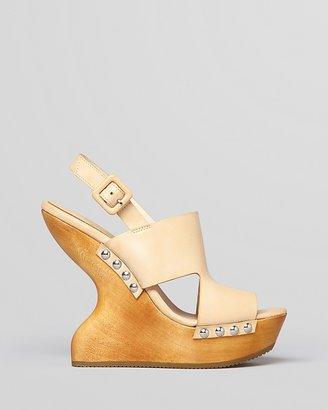 Luxury Rebel Peep Toe Platform Wedges - Giada