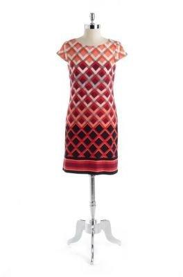 Eliza J Printed Cap-Sleeved Dress