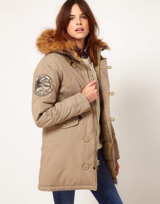 Alpha Industries Explorer Jacket with Faux Fur Trim Hood