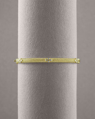 Judith Ripka Double Rope Diamond Bangle