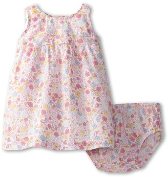 Benetton Kids - Girls' Ditzy Floral Dress w/ Bloomer (Infant) (Lime Green/Pink/Teal/Fuchsia) - Apparel
