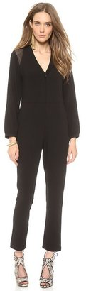 Cynthia Rowley One Button Deep V Jumpsuit