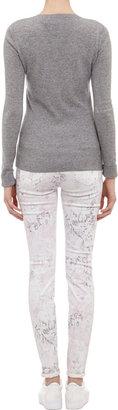 J Brand Rose-Print Super-Skinny Jeans