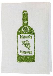 S/2 Wine Tea Towels, Dark Green