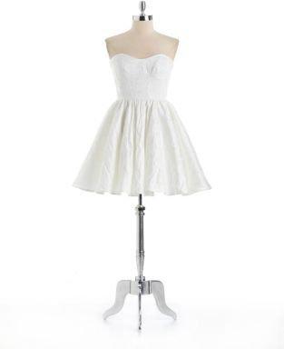 ABS by Allen Schwartz Strapless Jacquard Party Dress