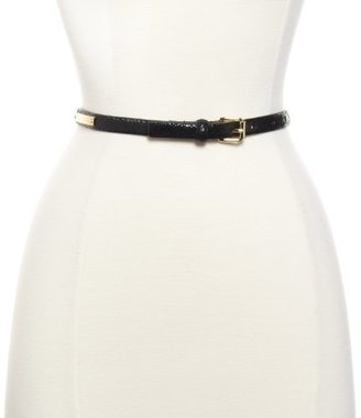 Vince Camuto Women's 16Mm Shiny Reptile Skinny Leather Belt