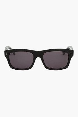 Yves Saint Laurent Glossy Black rectangle Sunglasses