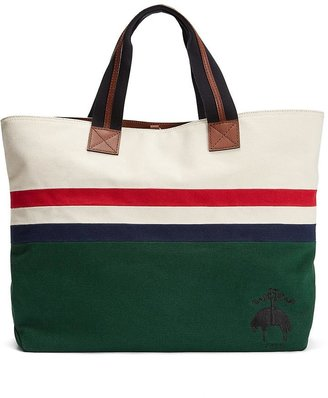 Brooks Brothers Striped Canvas Tote
