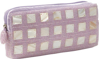 Global Elements Beaded Clutch With Mother of Pearl