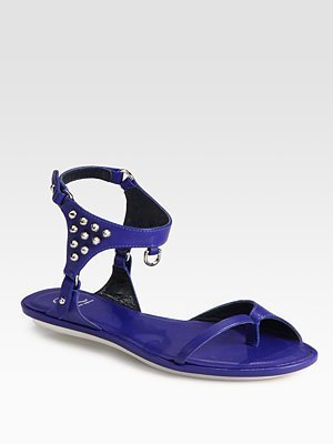 McQ by Alexander McQueen Studded Leather Gladiator Sandals