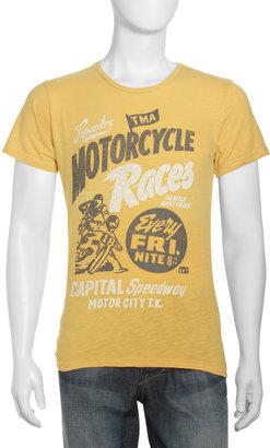 Superdry Motorcycle Races Jersey Tee, Sponge Yellow