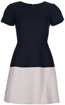 BCBGMAXAZRIA Contrast skirt dress