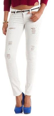 Hot Kiss Rhinestone Studded Skinny Jean