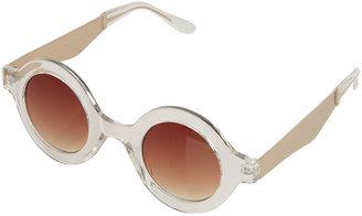 Topshop Metal Arm Round Sunglasses