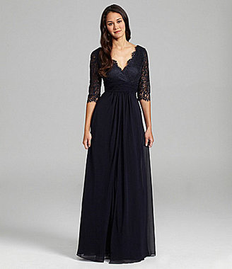 JS Collections Lace & Chiffon Gown