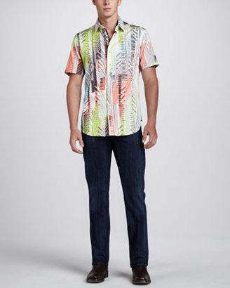Robert Graham Highball Short Sleeve Sport Shirt, Multi