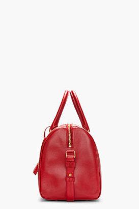 Saint Laurent Red buffed leather duffle 6 bag