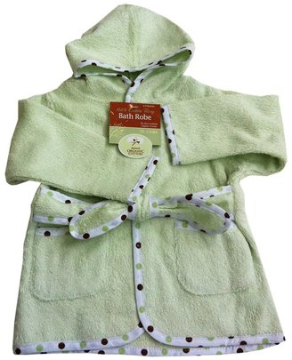 American Baby Company Organic Terry Baby Bath Robe - Celery