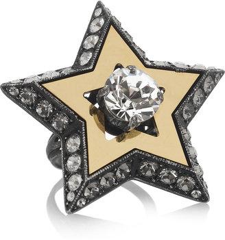 Lanvin Danseuses Swarovski crystal ring