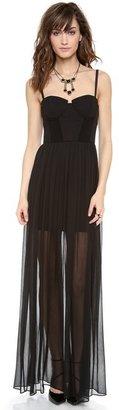 Alice + Olivia Shakira Bustier Maxi Dress