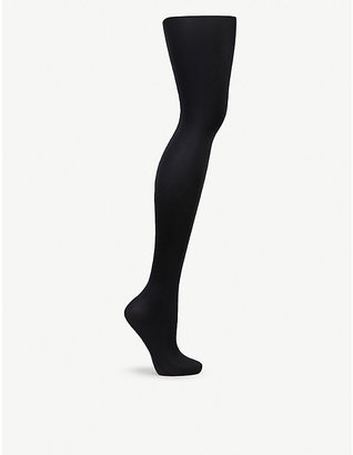 Wolford Women's Black Satin De Luxe 50 Tights, Size: L