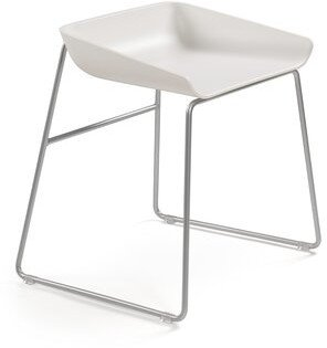 Steelcase Scoop Chair Metal Upholstery: Buzz2 - Alpine, Casters/Glides: Hard Floor Glides, Frame Finish: Platinum Metallic (4799), Seat Colo