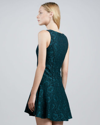 Ali Ro Sleeveless Lace Fit-and-Flare Dress