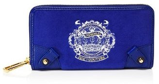 Juicy Couture Royal Crown Iconic Velour Continental Zip Wallet