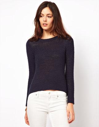 Vila Zip Side Sweater