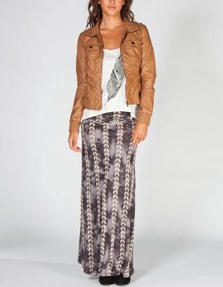 Full Tilt Sweater Hood Womens Faux Leather Jacket
