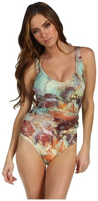 Jean Paul Gaultier One Piece with Tulle Overlay (Mint Romantic) - Apparel