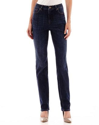LIZ CLAIBORNE Liz Claiborne Essential Original-Fit Straight-Leg Jeans $48 thestylecure.com