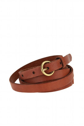 Urban Outfitters Cooperative Leather Double Wrap Skinny Belt