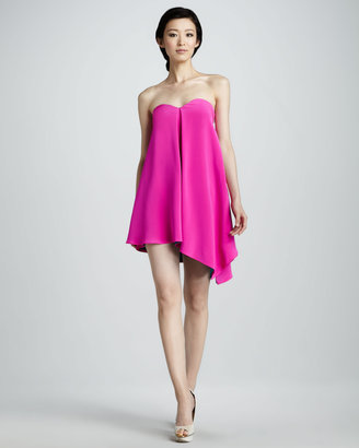 Jay Godfrey Strapless Asymmetric Cocktail Dress
