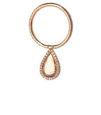 Nsr Nina Runsdorf Diamond & pink gold flip ring