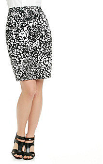 Evan Picone EvanPicone Evan-Picone® Printed Sateen Pencil Skirt